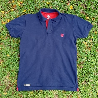 Camiseta Polo Sacudido s - Azul E Vermelha - R  109 d4c1e351bfb28