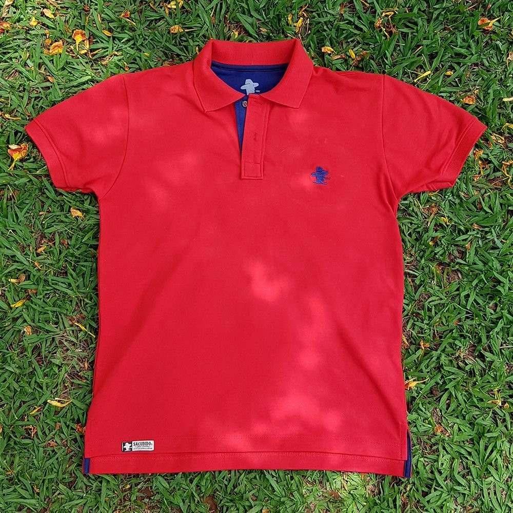 camiseta polo sacudido s - vermelho e azul. Carregando zoom. b2b7919b64f68