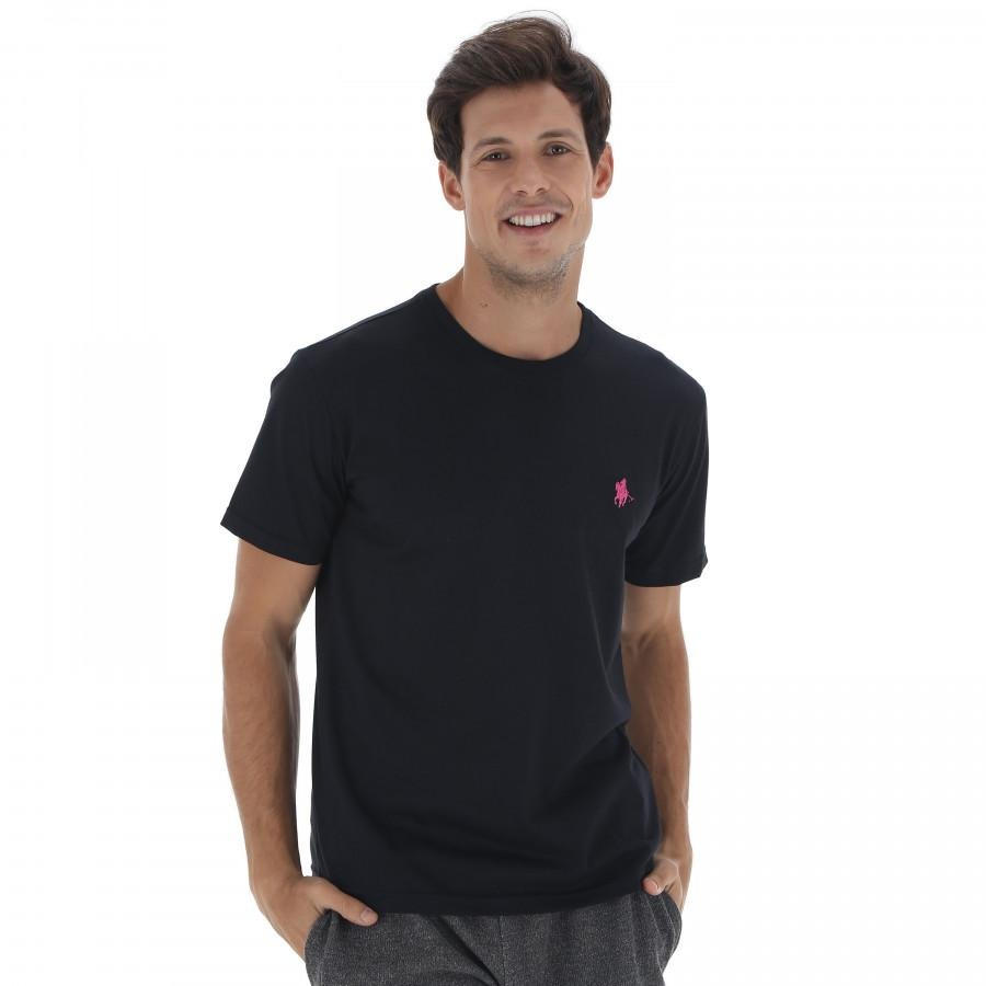 camiseta polo us gola careca 606tsgcb - preto rosa. Carregando zoom. 971b2412b312a