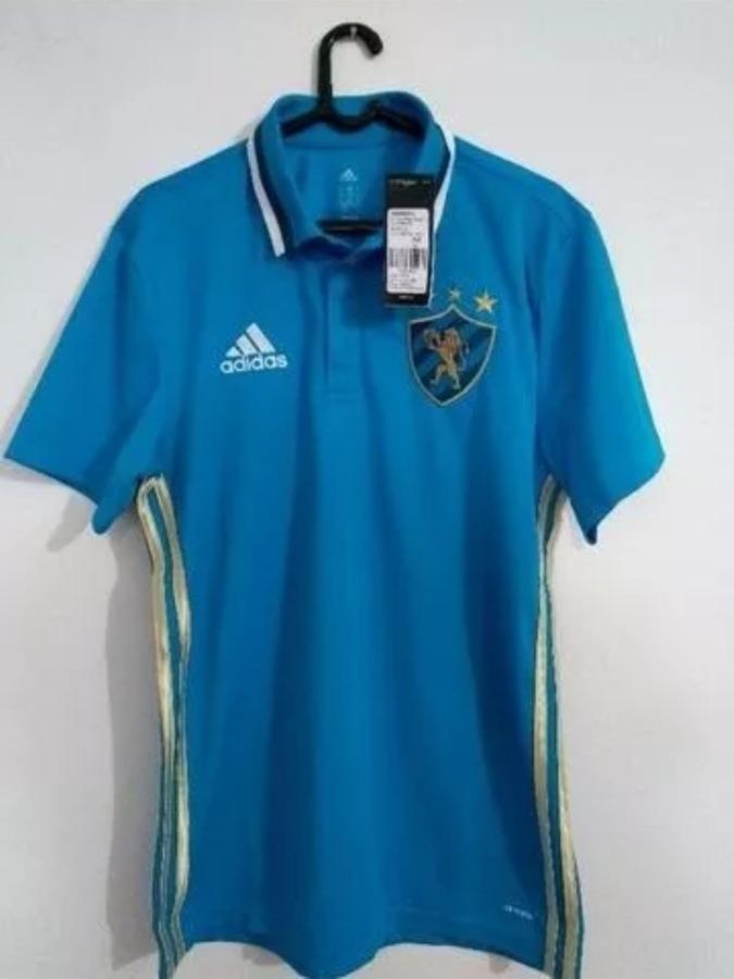 f6b15eee93ef2 camiseta polo viagem sport recife original adidas azul. Carregando zoom.