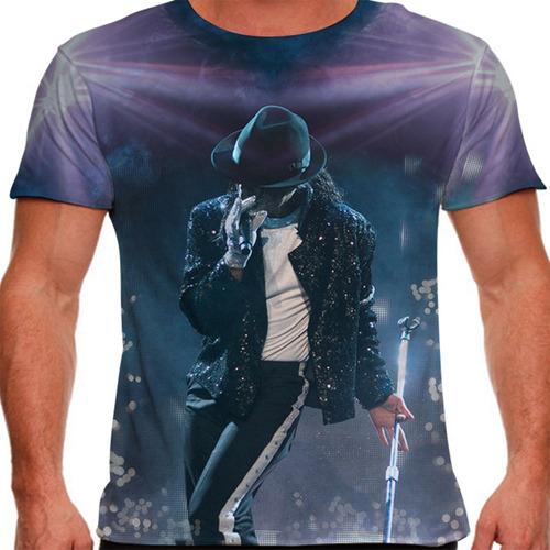 camiseta pop michael jackson live masculina