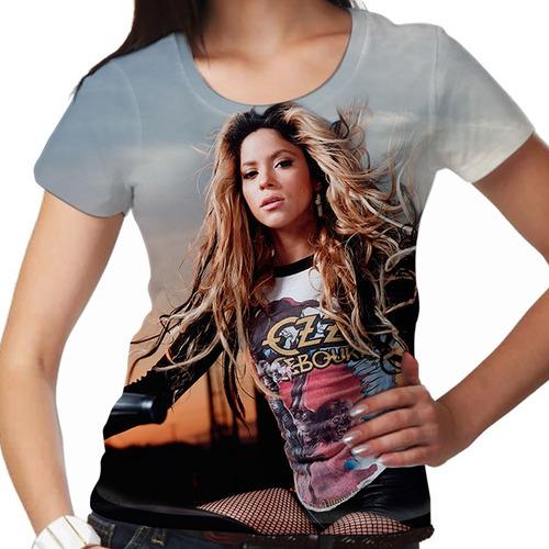 camiseta pop shakira wind feminina