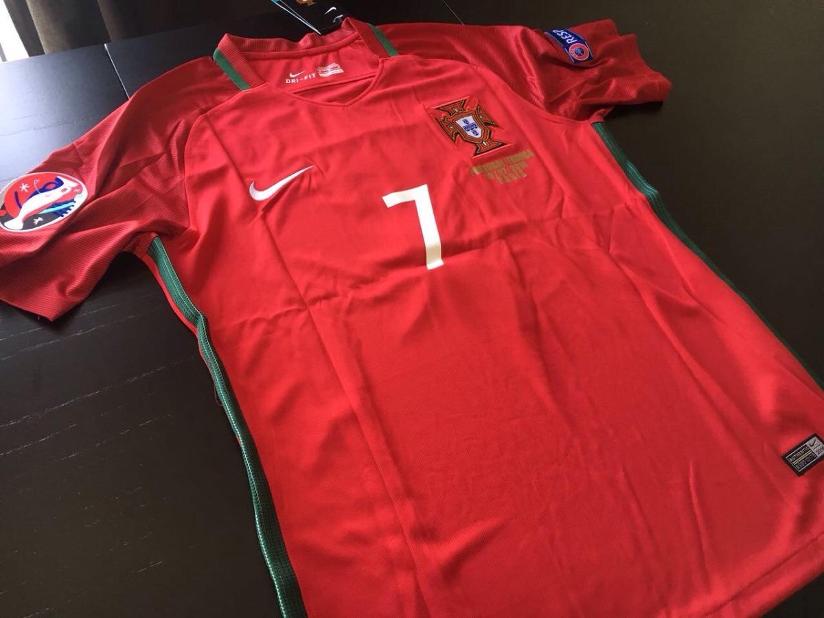 camiseta portugal titular final eurocopa 2016 ronaldo. Cargando zoom. d31439fccefb3