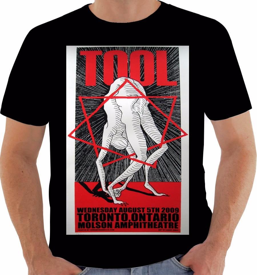 Camiseta Poster Original American Tour 2009 Tool Band