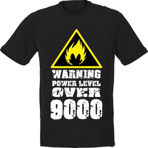 camiseta power level over 9000 dragonball z