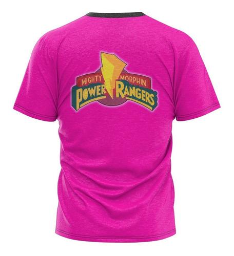 camiseta power rangers kimberly rosa filme camisa blusa