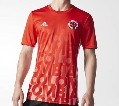 camiseta   pre-match de la seleccion colombia
