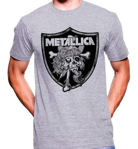 camiseta premium dtg rock estampada metallica