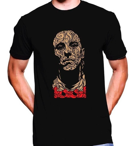 camiseta premium dtg rock estampada tool
