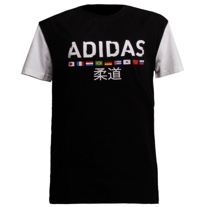 Camiseta Preta adidas Judo Tamanho Gg