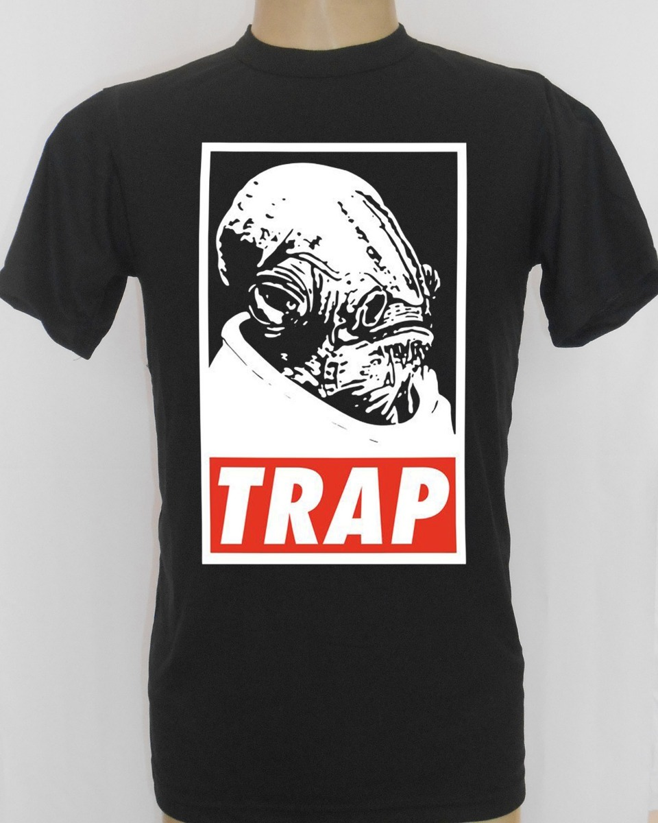 9a40d988e camiseta preta masculina ackbar it s a trap star wars meme. Carregando zoom.