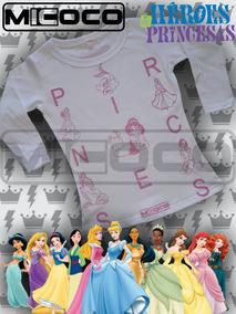 209256dbc Remeras Princesas Disney Tatuadas - Ropa y Accesorios para Niños en ...