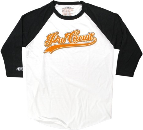 camiseta pro circuit sandlot masc. manga3/4 preta/branca 2xl