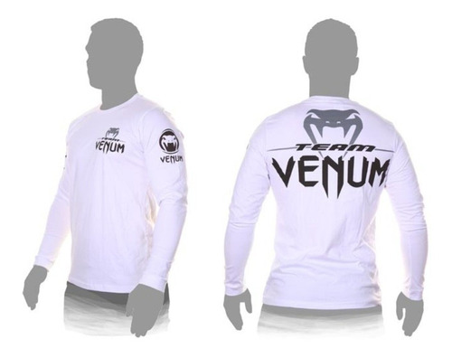 camiseta pro team long sleeves tee ice by venum jiu jitsu