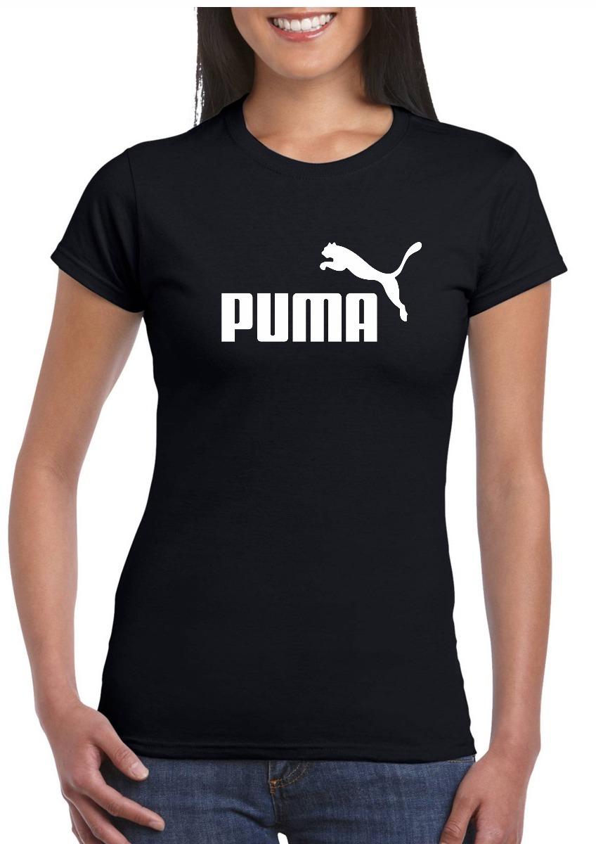 Camiseta Puma. Algodao Feminina Preta Pp Ao G5 - R  35 4360380e13809