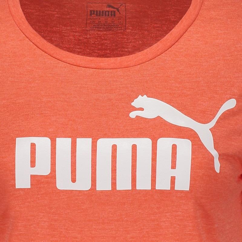 5164ddfee3 camiseta puma essential no.1 heather feminina laranja. Carregando zoom.