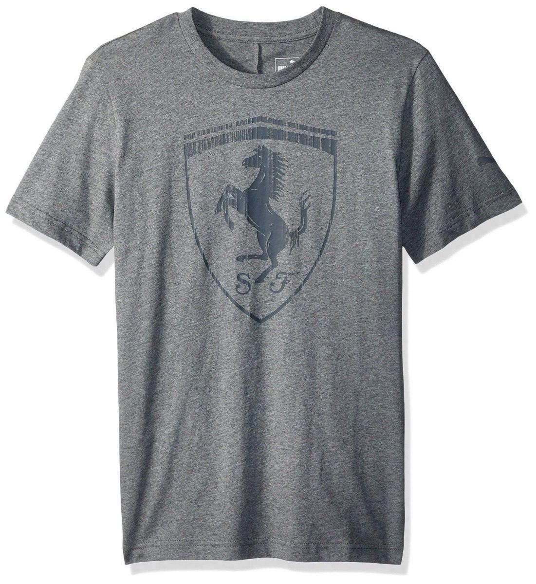camiseta puma ferrari big shield masculina cinza. Carregando zoom. e6a09fcf6e0
