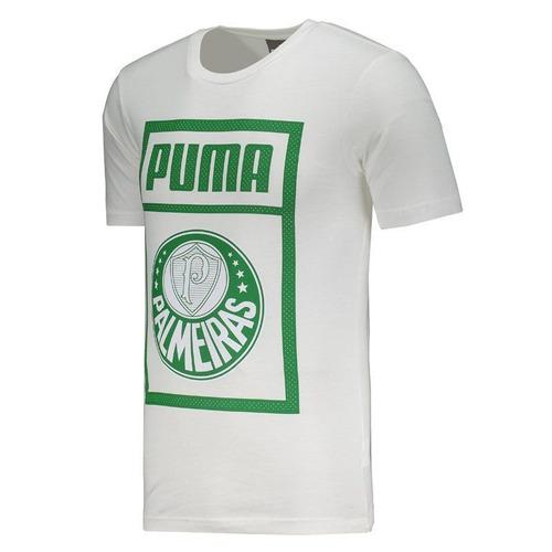 camiseta puma palmeiras graphic branca