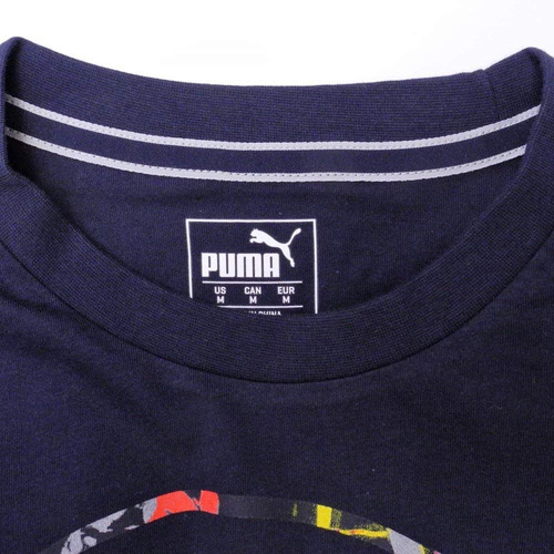 Camiseta Puma Red Bull Racing Double Bull Marinho - R  139 31438dc3586