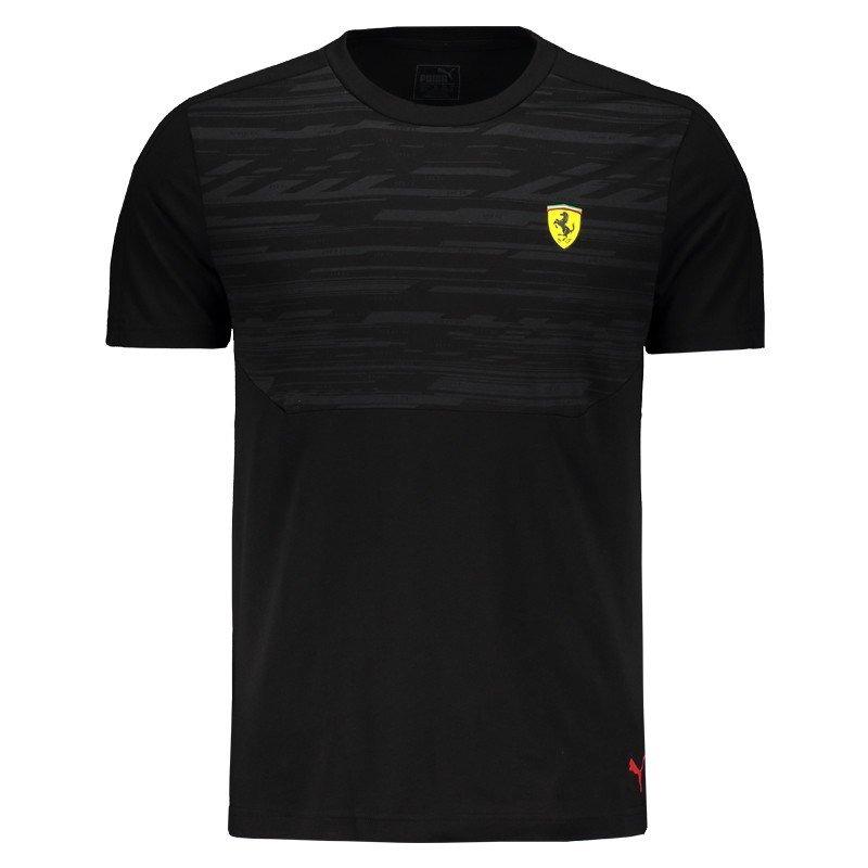 camiseta puma scuderia ferrari preta. Carregando zoom. d5475284f02