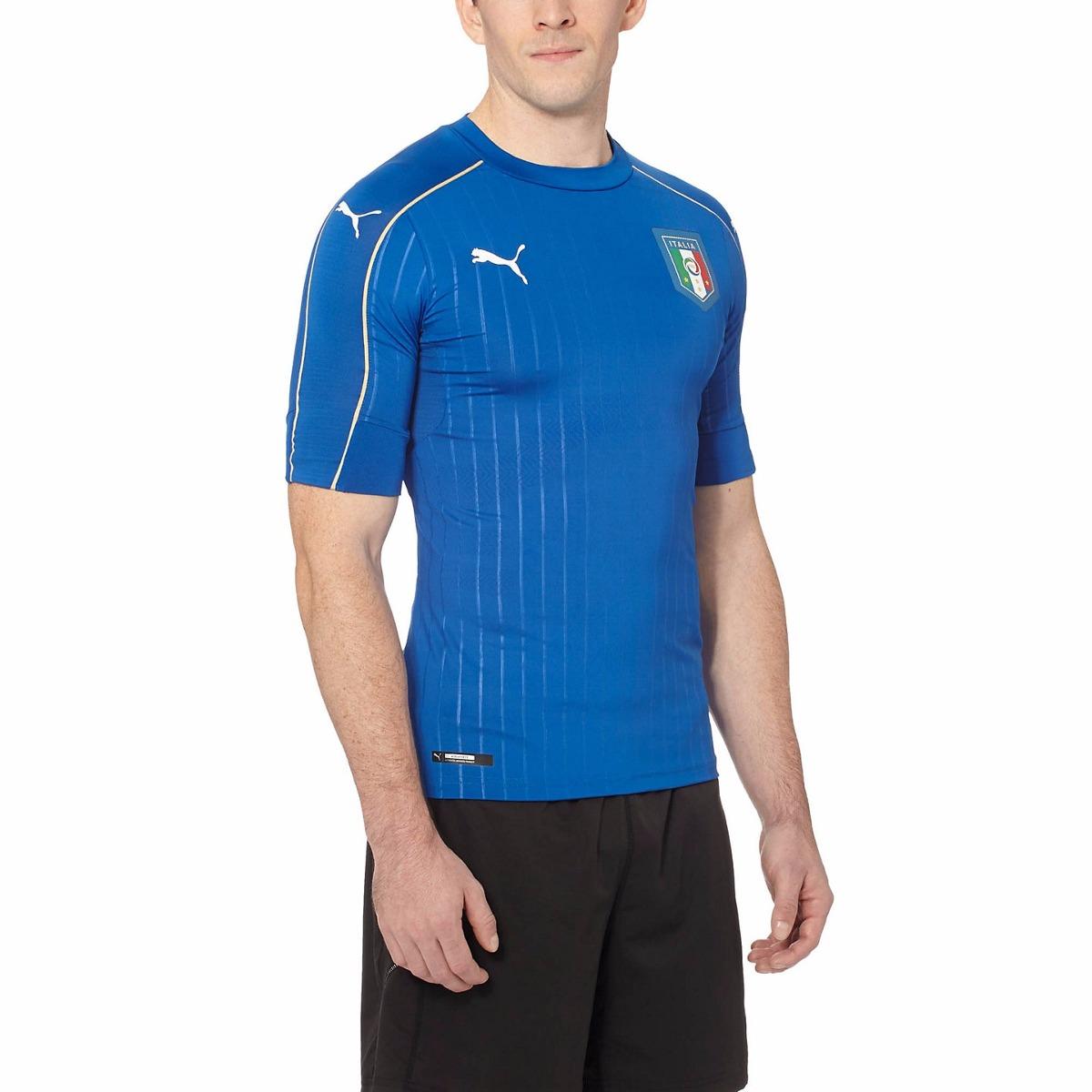 camiseta puma t. m 2016 17 figc italia home authentic jersey. Carregando  zoom. 464a37d11e614