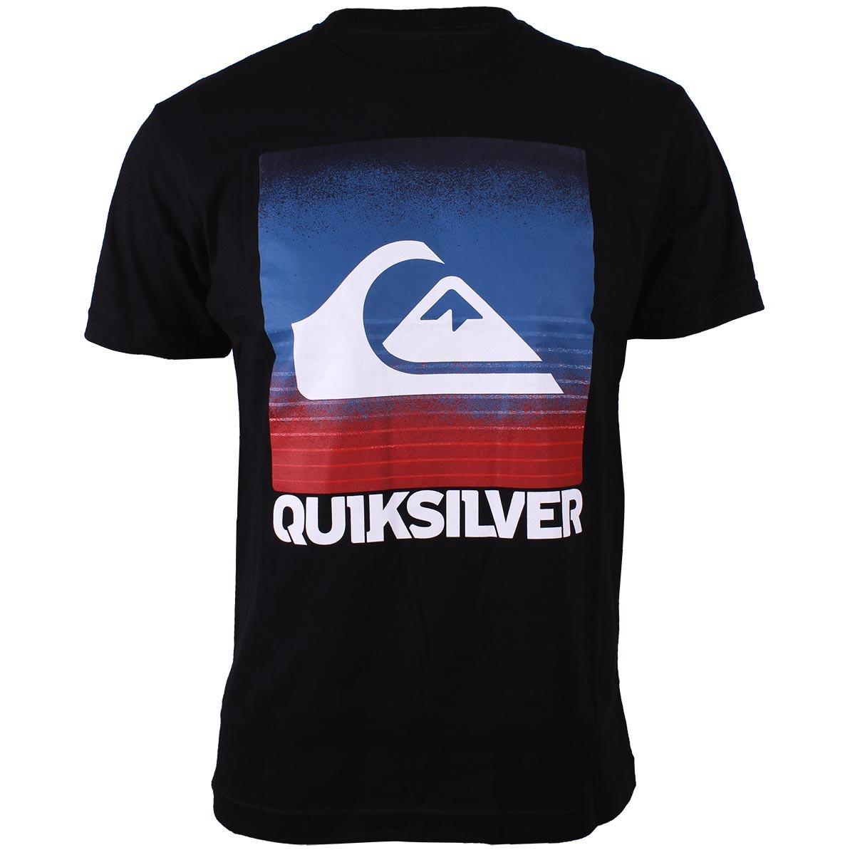 347c18a3f319c camiseta quiksilver ag47 preta. Carregando zoom.
