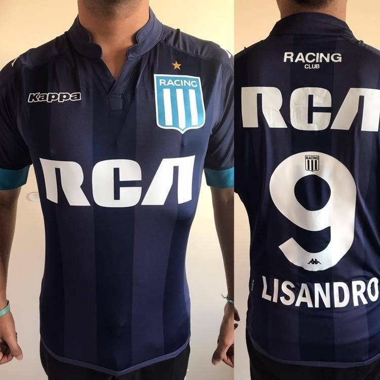 Camiseta Racing Club 2017 Suplente Kappa -  9 Lisandro -   1.200 1c64367a53e37