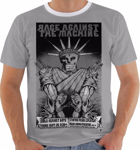 camiseta rage against the machine - concert poster - ny - pb