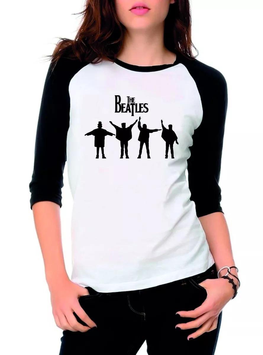 5146c9c39d8 Camiseta Raglan 3/4 The Beatles, Camisa Feminina, Rock - R$ 34,91 em ...
