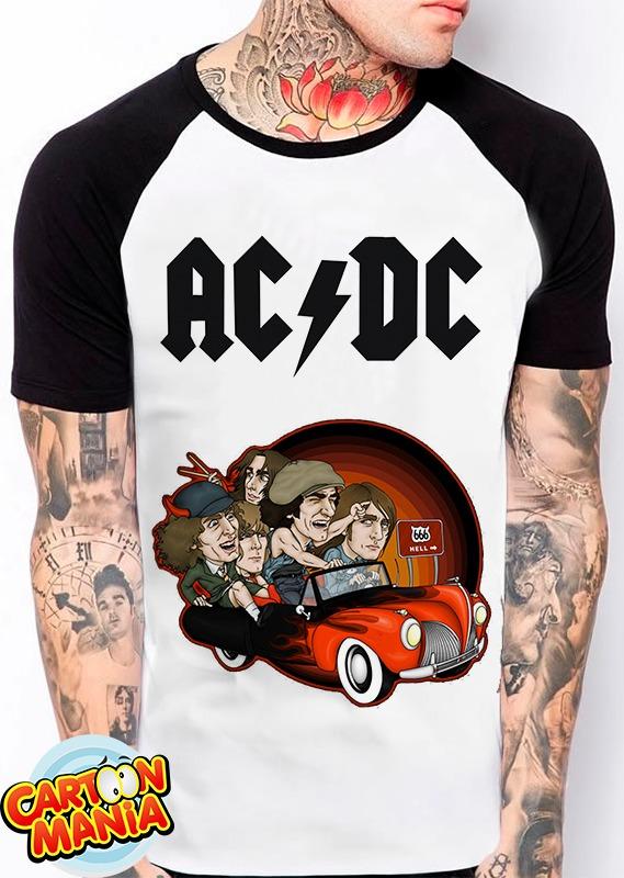 camiseta raglan acdc logo hard rock rock n roll heavy metal. Carregando  zoom. cee62c9f397ab