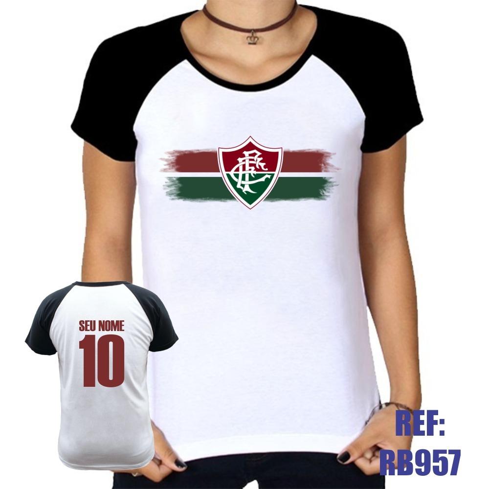 fe180d72831bf camiseta raglan baby look fluminense personalizada com nome. Carregando  zoom.