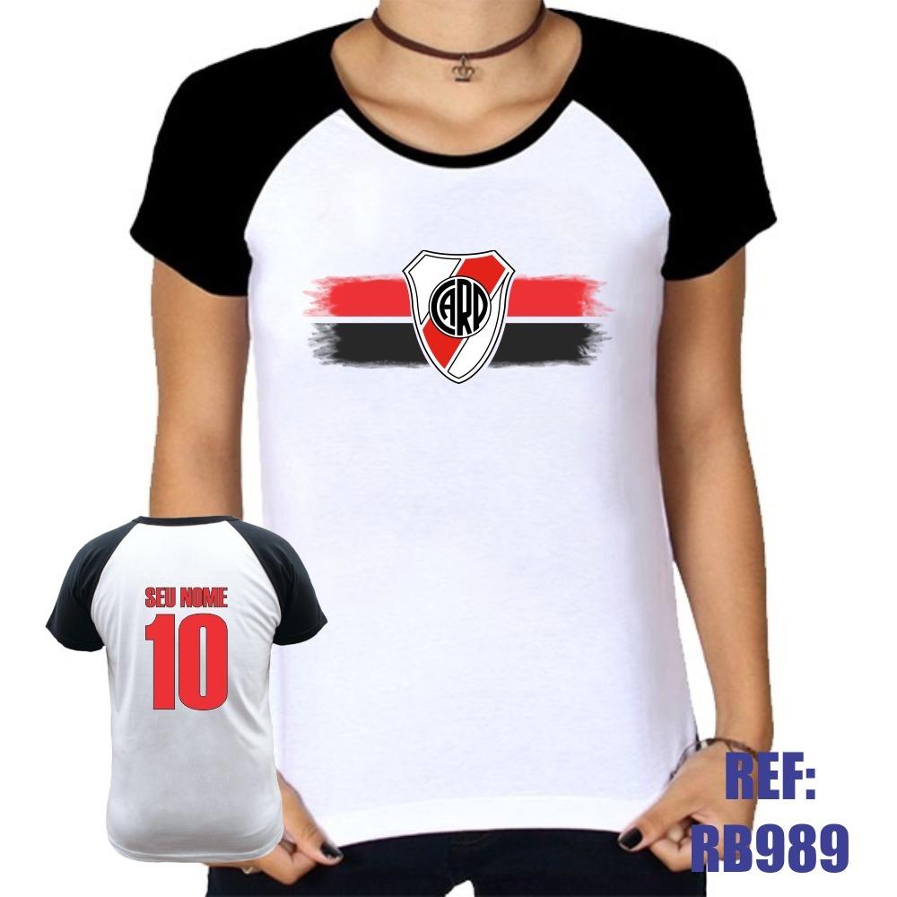 3ff1d2217e camiseta raglan baby look river plate personalizada com nome. Carregando  zoom.