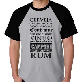 12b45419be37 Camisa Bebida - Camisetas e Blusas com o Melhores Preços no Mercado Livre  Brasil