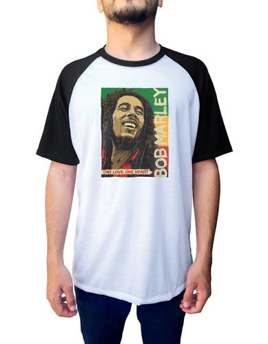 camiseta raglan bob marley musica cantor reggae is this love