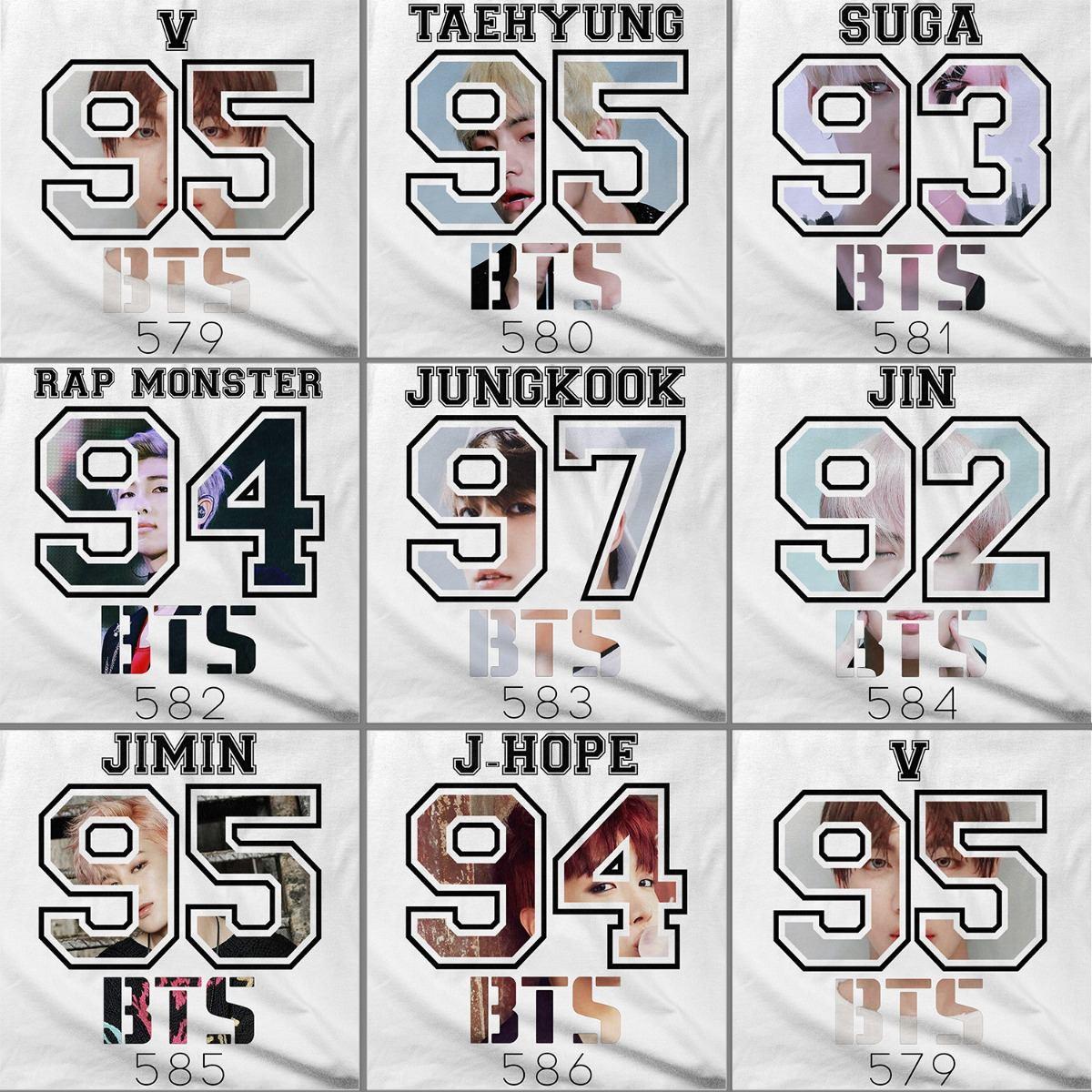 Camiseta Raglan Bts Integrante J Hope 94 Kpop Tumblr Bias V R