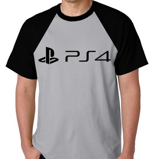 dbab98dc1 Camiseta Raglan Camisa Blusa Playstation Ps4 Video Game Jogo - R  39 ...