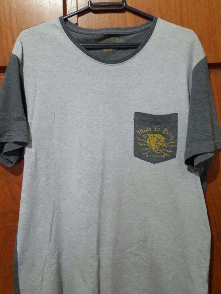 25a06b2c6 Camiseta Raglan Com Bolso Billabong - R$ 42,00 em Mercado Livre