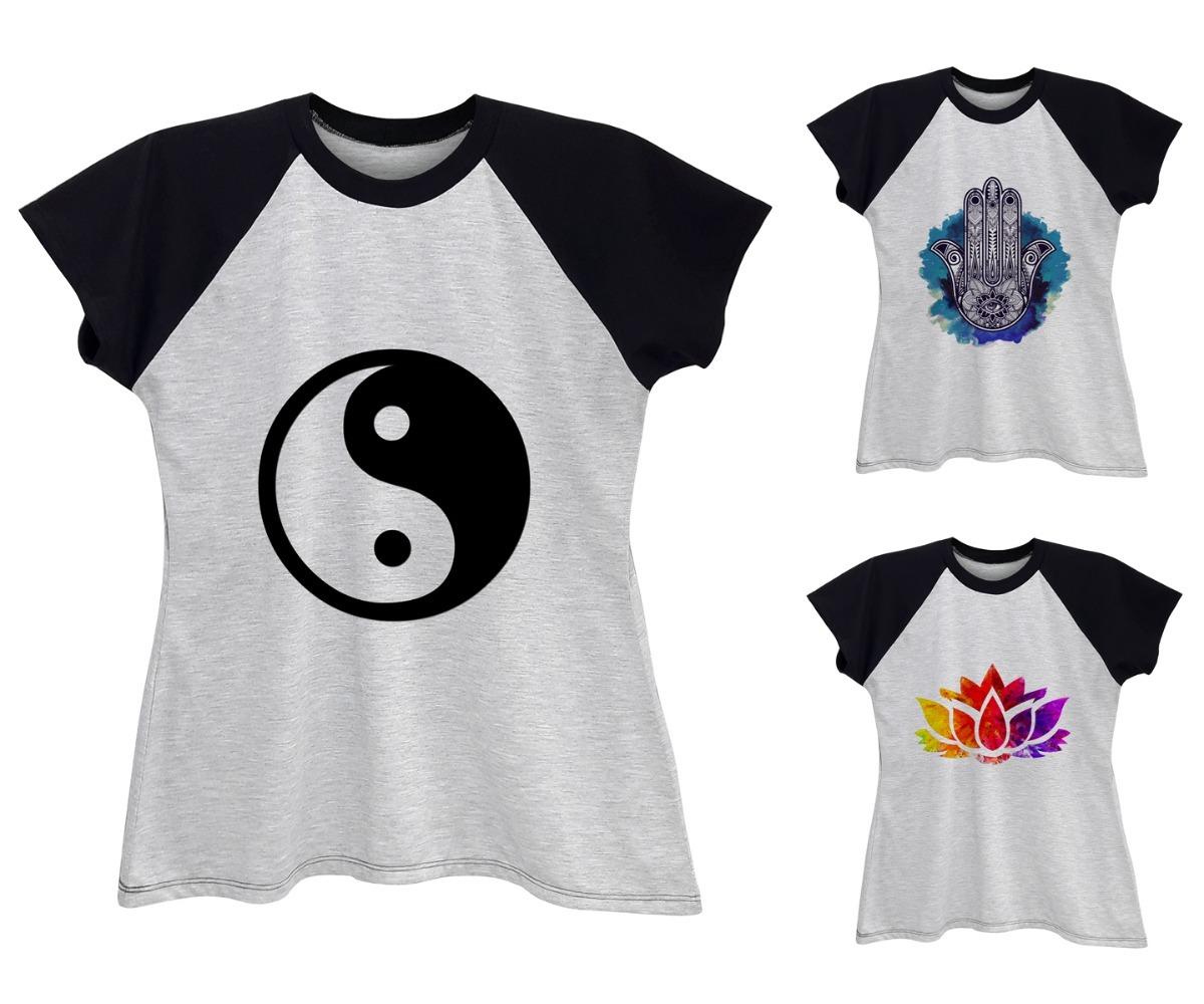 a25ef5516 camiseta raglan feminina zen budismo tao plus size até g6. Carregando zoom.