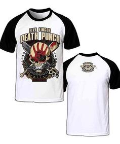 Camiseta Raglan Five Finger Death Punch Ffdp Got Your Six
