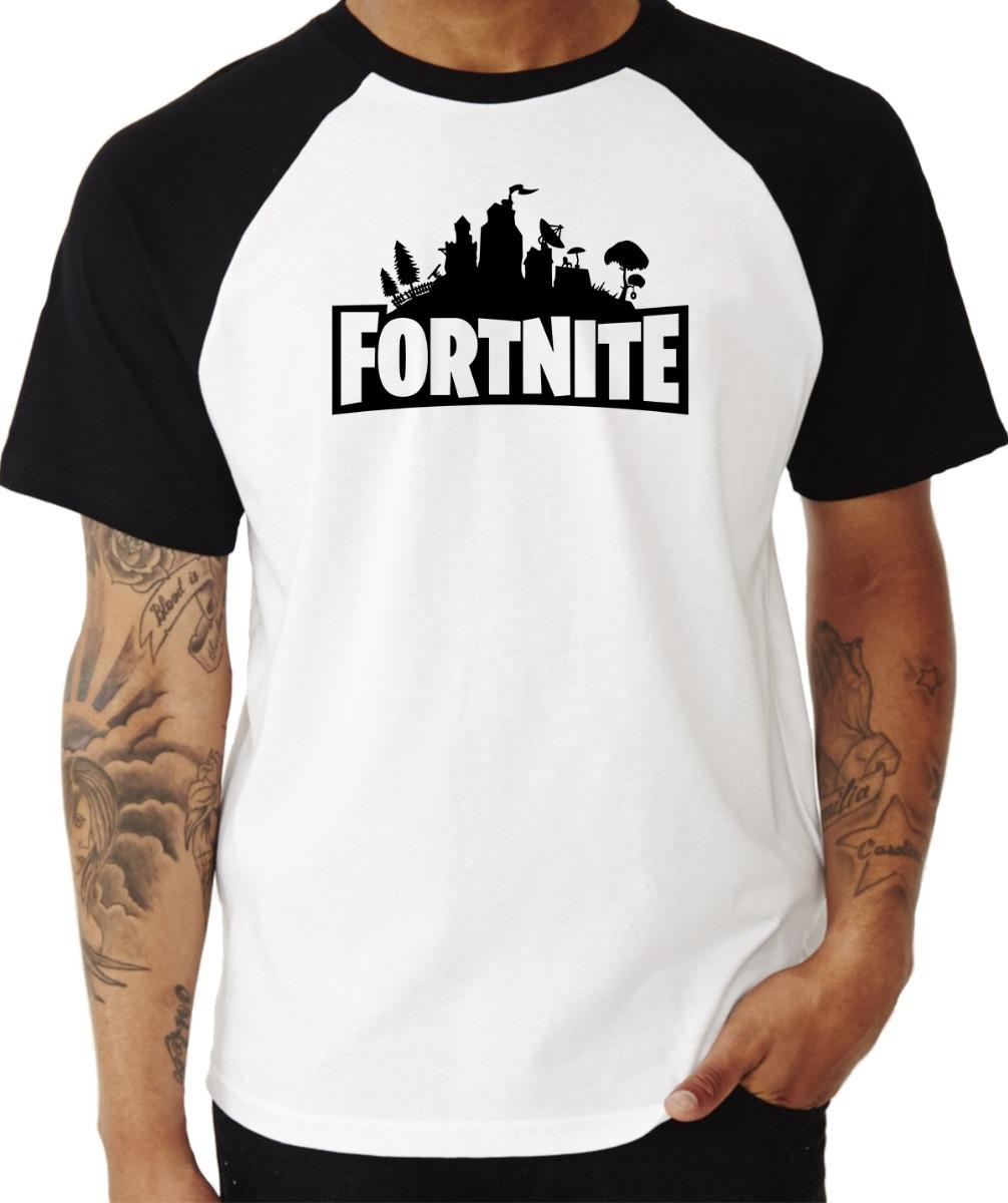 5fe5904b3 Camiseta Raglan Fortnite  3 Game Jogo Manga Curta - R  39