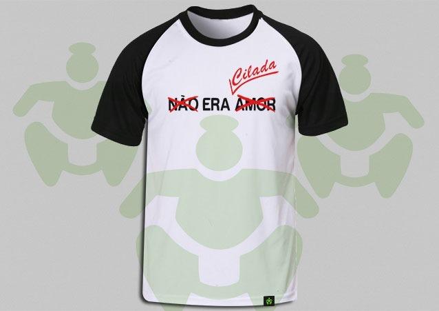 aec438afb Camiseta Raglan Frases Não Era Amor Era Cilada 6 - R  38