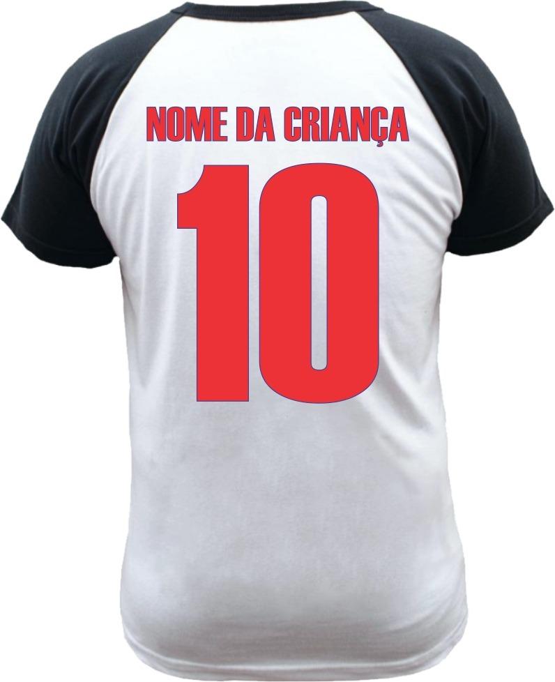 camiseta raglan infantil atlético de madrid com nome. Carregando zoom. a5ba1ba6ee326