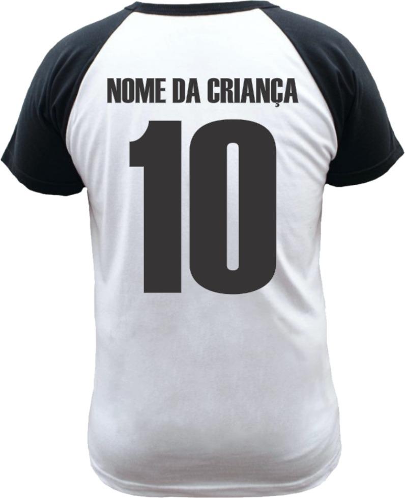 camiseta raglan infantil botafogo personalizada com nome. Carregando zoom. 9bd3745b9af73