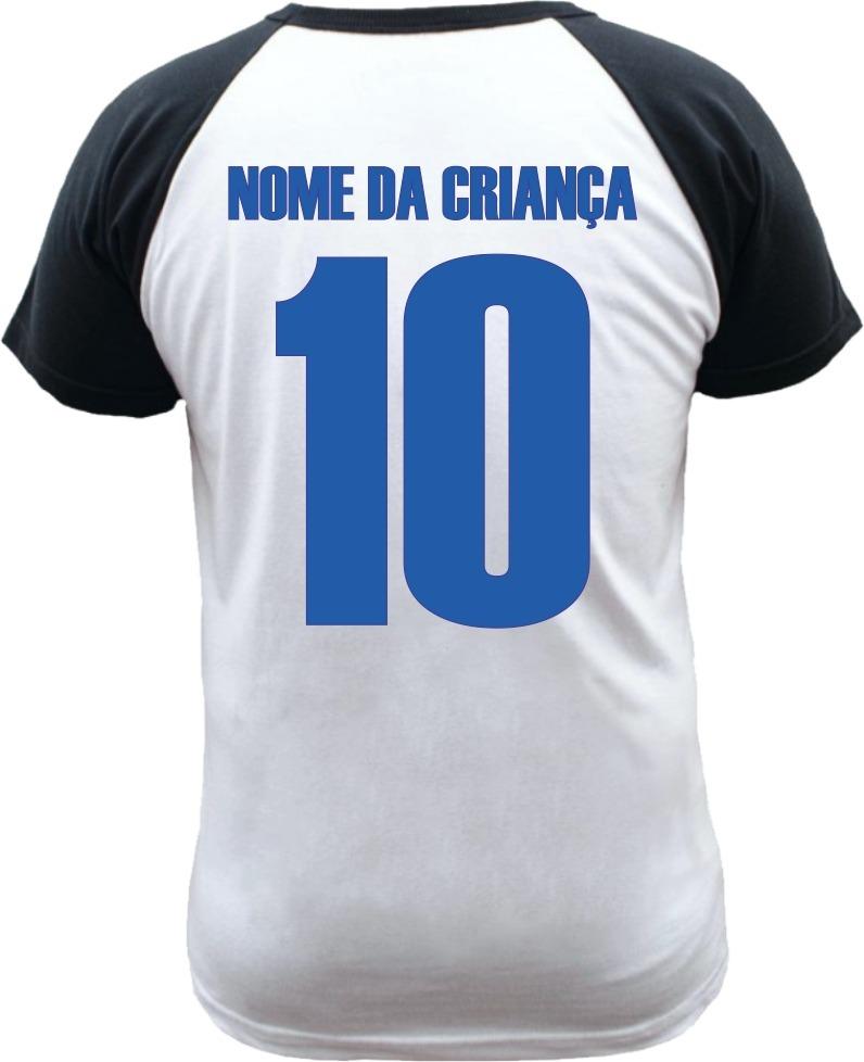 camiseta raglan infantil cruzeiro personalizada com nome. Carregando zoom. 1a9c8d4ae2a4b
