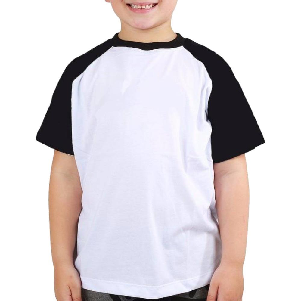 7edcad0f12 camiseta raglan infantil lisa malha fria 100% poliéster. Carregando zoom.
