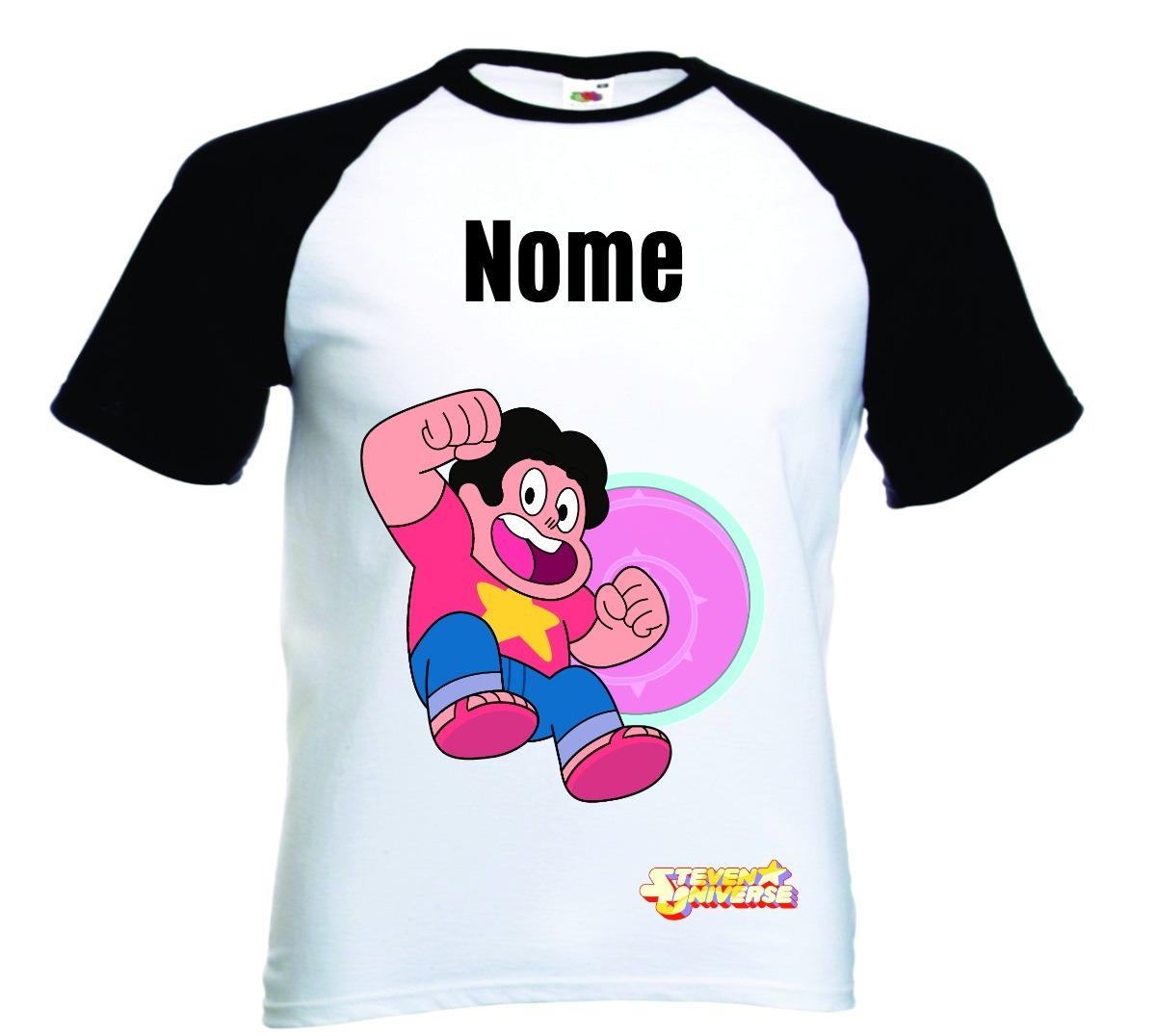 d7dc87bd53 camiseta raglan infantil personalizada steve. Carregando zoom.