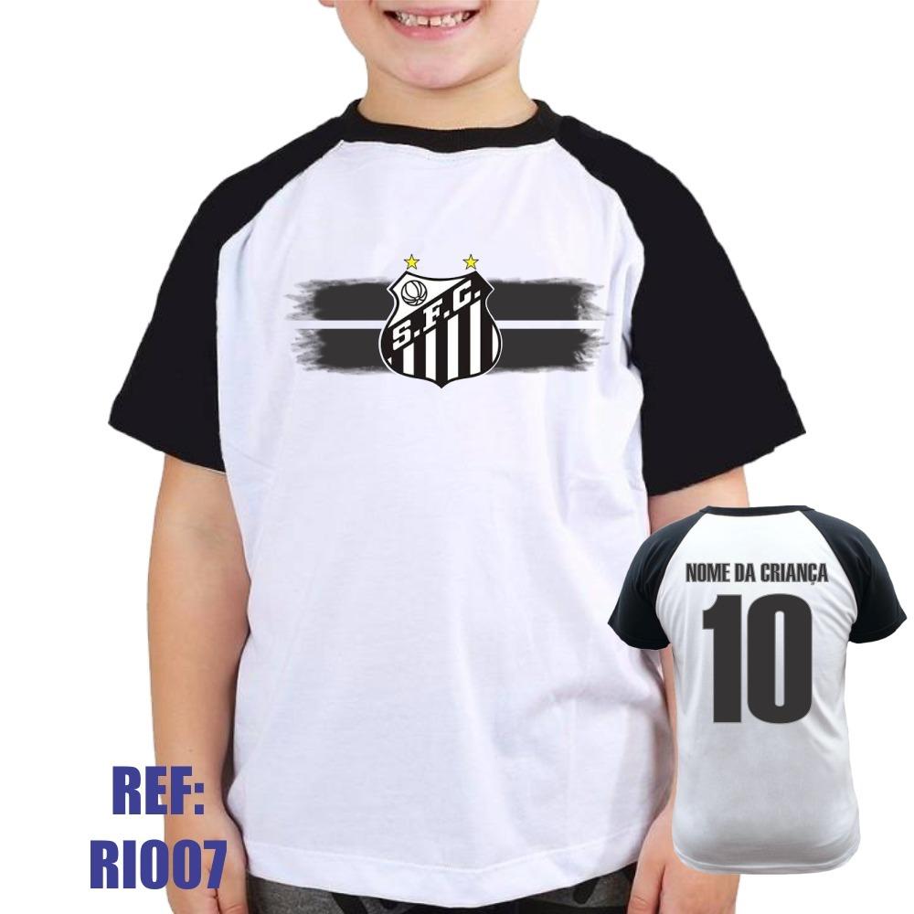 camiseta raglan infantil santos personalizada com nome. Carregando zoom. b14b8d25b25fd
