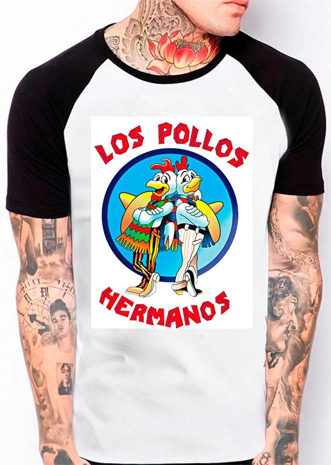 0ca6585e4 camiseta raglan los pollos hermanos breaking bad sw-165. Carregando zoom.