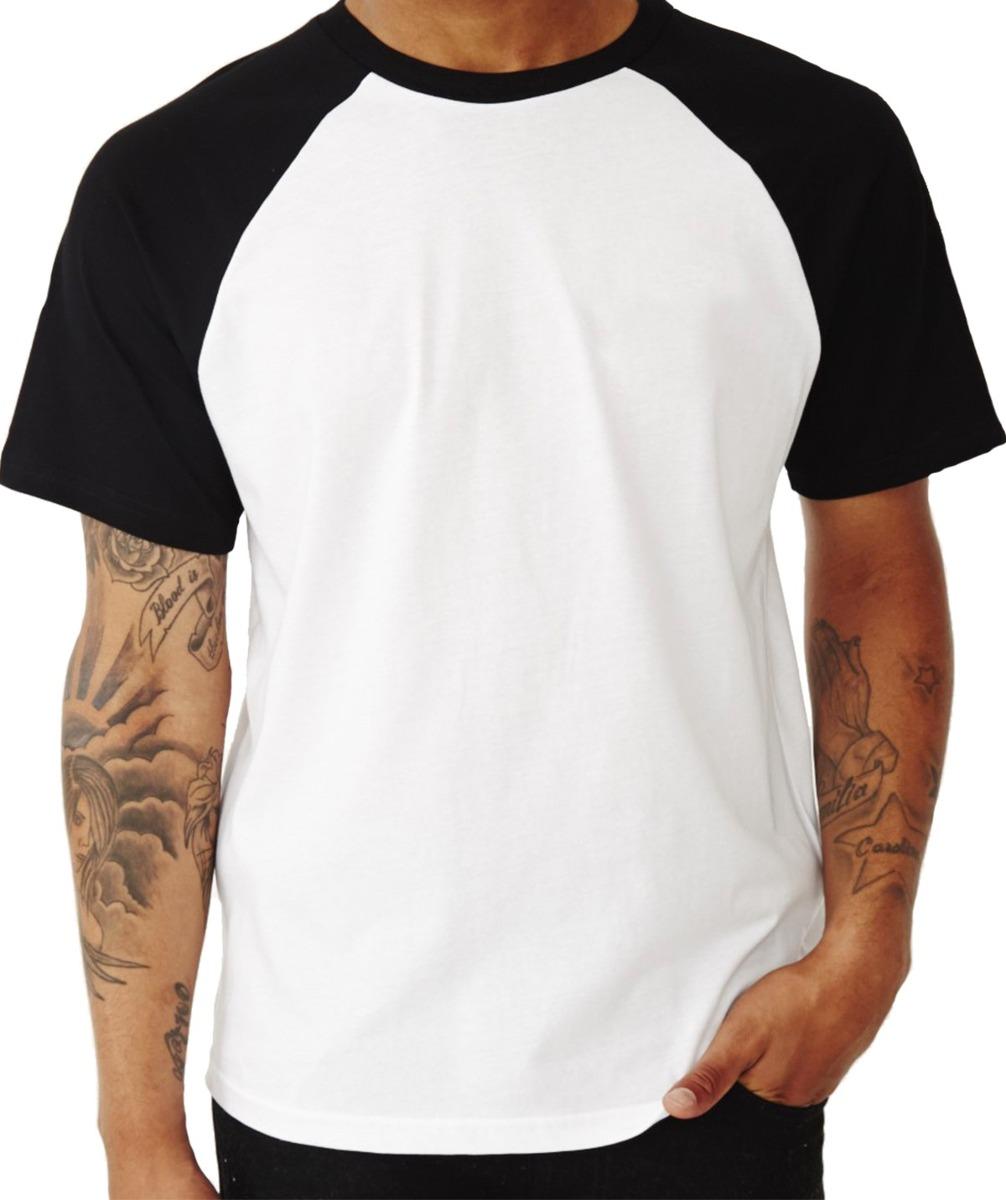 6ff1ded70 Camiseta Raglan Manga Curta Lisa Malha Fria 100% Poliéster - R  34 ...