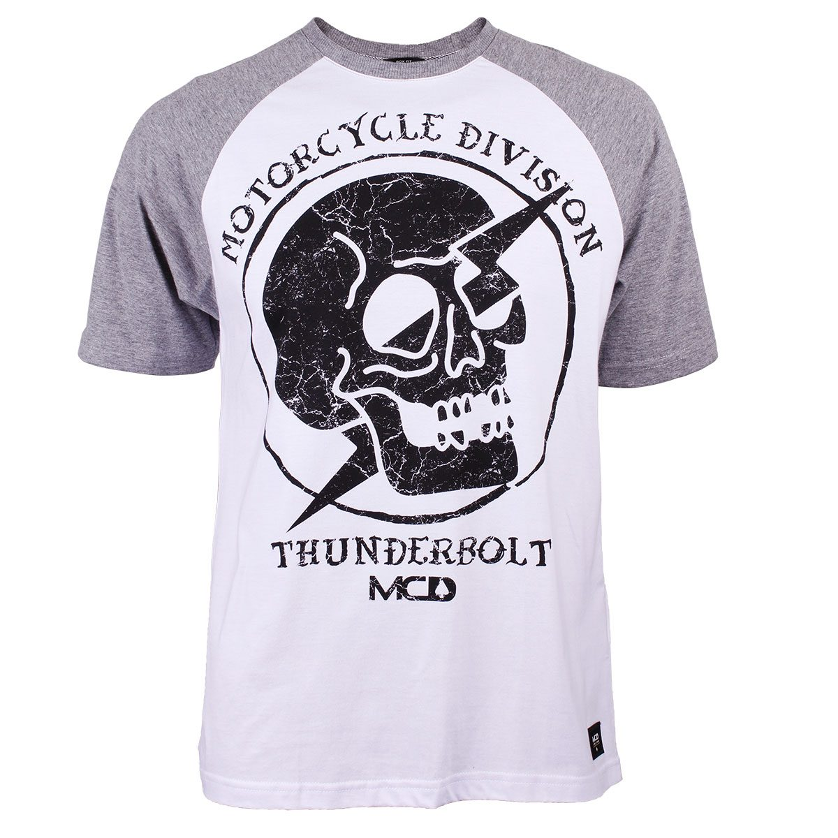 camiseta raglan mcd motorcycle branca cinza mescla. Carregando zoom. d3a71bab72f
